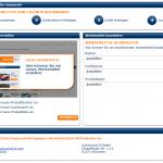 Auf der Startseite kann der Publisher Produktbanner, Suchbanner oder Produktlisten konfigurieren.
