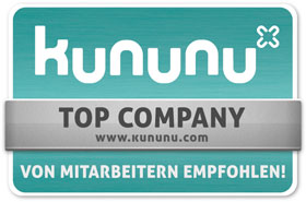 mediaBEAM wurde von den eigenen Mitarbeitern auf kununu.de als Top Company bewertet!